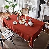 Mantel Rojo De Color Sólido Mantel De Decoración De Fiesta Navideña Mantel De Cocina Rectangular para Restaurante Mesa Cuadrada Mesa De Centro Mesa Jardín Al Aire Libre 140x180cm