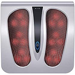 Miko Foot Massager with Shiatsu Settings, Deep-Kneading Functions, and Rotating Heat to Relieve Pain from Plantar Fasciitis, Neuropathy, Diabetes, Muscle Tension and Circulation