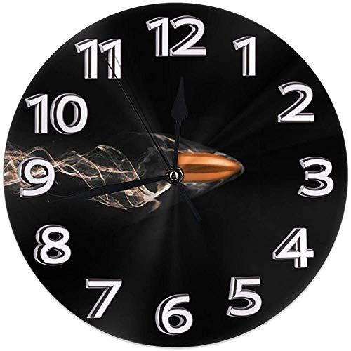 Kncsru Bullet in Flight Orologio da Parete Orologi Decorativi Impermeabili Orologio Leggero con lancette a Numeri Romani Orologio da Parete Rotondo Resistente