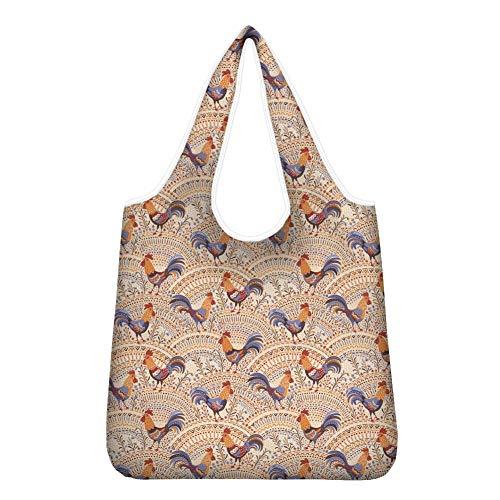 Agroupdream Umweltfreundliche Einkaufstasche, faltbar, praktisch für Damen, Teenager, Mädchen, Hühner.