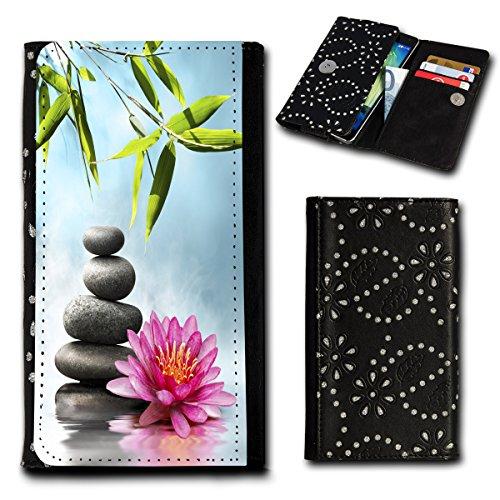 sw-mobile-shop Strass Book Style Flip Handy Tasche Case Schutz Hülle Foto Schale Motiv Etui für Medion Life E5001 - Flip SU3 Design9