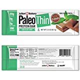 Julian Bakery Paleo Thin Protein Bar | Chocolate Mint | Grass-Fed Beef | 20g Protein | 2 Net Carbs | 12 Bars