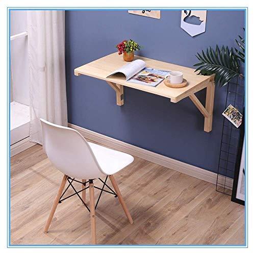 Aan de muur gemonteerde tafel met klapblad, keuken schraag, bureau waterdicht, aangroeiwerende, stabiele houten vouw, 80 cm * 40 cm