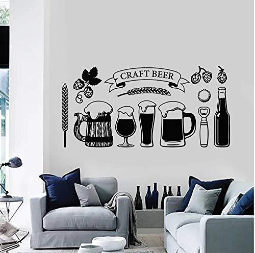 MUXIAND muursticker muurstickers citaten muurstickers woonkamer familie removibile waterdichte cadeau liefhebber thuis decoratie bier drinken 42x85cm
