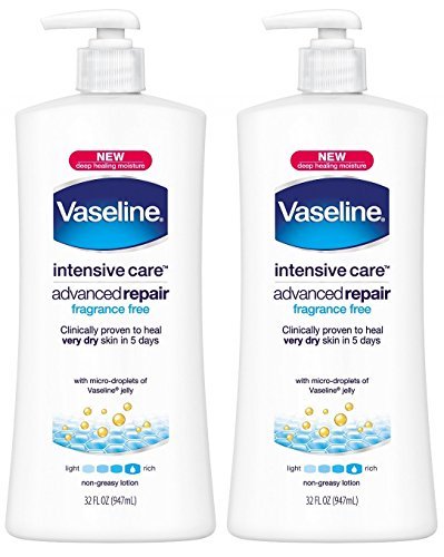 Vaseline Intensive Care Body Lotion - Advanced Repair - Unscented - Net Wt. 32 FL OZ (947 mL) Each - Pack of 2