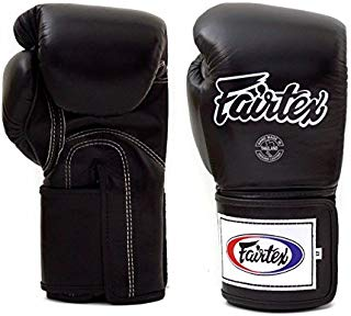 Fairtex Boxing gloves BGV5 - Super Sparring Gloves, Black/White Color. Size: 12 14 16 oz. Sparring gloves for Kick Boxing, Muay Thai, MMA