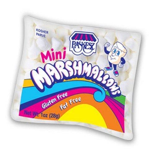 Paskesz Mini White Marshmallows 1 Oz. Bag (Pack of 24)