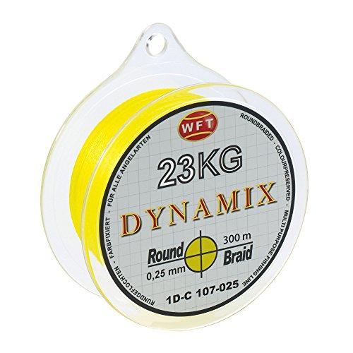 WFT Round Dynamix 300m Angelschnur geflochten rund - 0.08mm - Gelb #1D-C 106-008