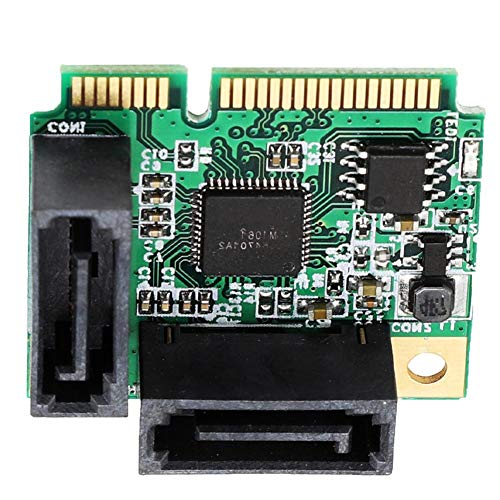 PCI-E uitbreidingskaart, Mini PCI-E naar 2-poorts 3.0 SATA harde schijf adapter extender voor Windows 10/8/7 (32/64 bit)/Vista/Server 2003/XP/2000 Linux, PCI-E uitbreidingsadapter