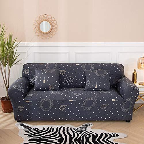 WXQY Sala de Estar Cubierta de sofá elástica geométrica sección Moderna Cubierta de sofá de Esquina Cubierta de protección de Silla Cubierta de sofá A9 3 plazas
