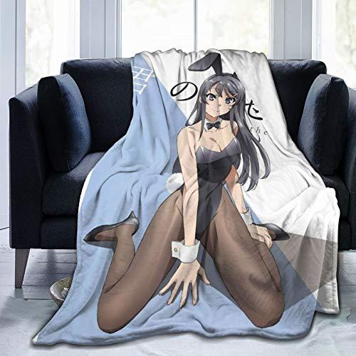 Pinnuoxieye Rascal Does Not Dream of Bunny Girl Senpai (Seishun Buta Yarou Wa Bunny Girl Senpai No Yume Wo Minai) Cozy Plush Sheet