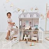 Olivia's Little World Dreamland Großes Bauernhaus Puppenhaus 2.9Fuß Aus Holz Spielzeughaus Spielset Zwei Spielebenen Mit 14 Puppenmöbel Und Puppenzubehör TD-12901A