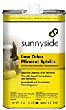 Sunnyside Corporation 80332 Low Odor Mineral Spirits Paint Thinner, Cleaner and Degreaser, Quart, 12 Pack