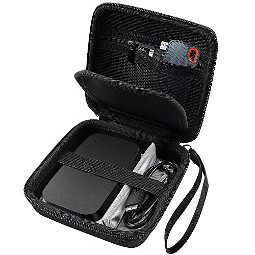 Hard Travel Case for RAVPower FileHub, Travel Router AC750 / N300, 2.5 Inch Portable SSD, MP3 Player, Power Bank, USB Cable and More.
