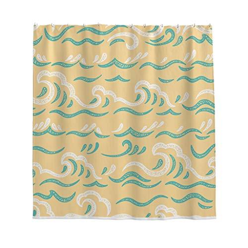NC83 grafisch geometrie thema print douchegordijn grappig gemakkelijk te wassen badgordijn set - voor apartment