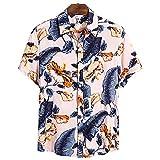 SSBZYES Chemises pour Hommes Chemises D'été à Manches Courtes T-Shirts pour Hommes Chemises Grande Taille Chemises à Revers à Manches Courtes en Coton De Haute Qualité Chemises Décontractées