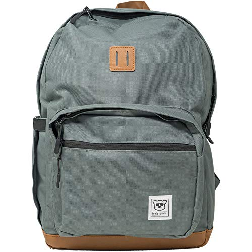Brady Goods MVB The Most Valuable Leather Accent Backpack, Charcoal Green, One Size