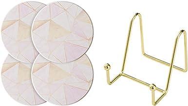 YUMEIGE Diatom Mud Coaster Set (met Coaster Holder), Nordic Style, Eenvoudig en milieuvriendelijk, Koffietafel Decoratie, ...