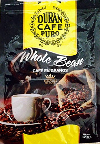 Café Duran Best Panama Whole Roasted Coffee Beans 360gr (12.7oz) Freshly Imported from Chiriquis Highlands