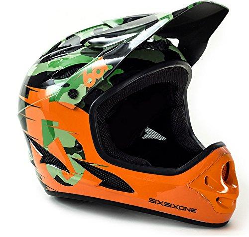 661 SixSixOne Comp Full Face Gravity MTB DH Helmet - (CSPC) - CAMO/ORANGE (CLOSEOUT) _7166-21