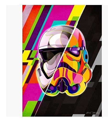 LDTSWES Rompecabezas Creativo Abstracto de Star Wars, Rompecabezas de Superficie Plana de Bricolaje de Madera, para niños Juegos educativos Juguetes Rompecabezas de ensamblaje 1000 Piezas sin Marco