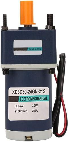 Réducteur de vitesse ajustable XD3D30-24GN-21S, Moteur à engrenage à réduction DC DC24V 30W à aihommet perhommeent électrique(85RPM)