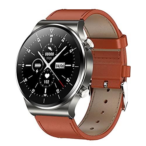 chebao, Reloj inteligente, rastreador de fitness con oxígeno en sangre, reloj inteligente, impermeable, con Bluetooth, llamada de ritmo cardíaco, monitor de actividad física (gris)