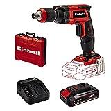 Einhell 4259980 Atornillador de obra TE-DY 18 li-solo en seco sin batería, Rojo/Negro + 4512097 Kit para principiantes que incluye Batería 2,5 Ah + Cargador Power X-Change