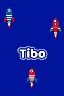 Tibo: Personalisiertes Vornamen Notizbuch / Tagebuch - 120 Seiten - Punkteraster - Format 6x9 ca. DIN A5 (German Edition)