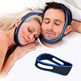 Anti Snoring Chin Strap, Stop Snoring Chin Straps for CPAP Users, Adjustable Snore Reduction Device for Sleeping Better, Breathable Stop-Snoring Sleep Aid for Men Women Snore Stopper Snoring Solution