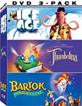 Animated 3 Pack: (Thumbelina / Ice Age / Bartok the Magnificent)