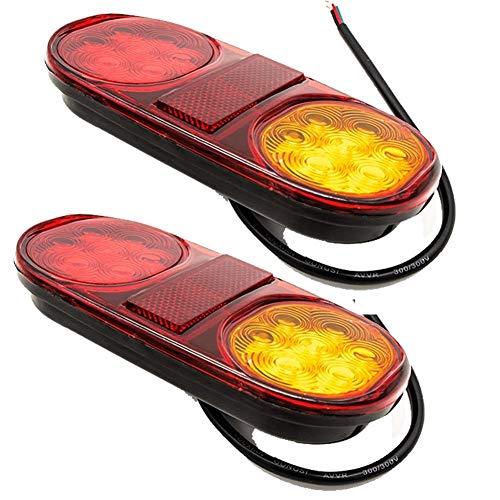 1 paar verlichting aanhangwagen 10-30V Waterdichte LED Stop achterlichten Running Brake Reverse Light Draai Indiactor Truck Taillights Lamp