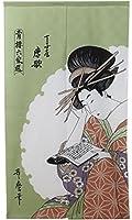 のれん 浮世絵のれん 「唐歌」 【IT】【DM】(#9893172) サイズ:85×150cm