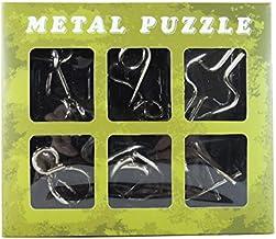 知恵の輪 METAL PUZZLE 6点セット ちえの輪 パズル 知育 脳トレ (③グリーン単品)