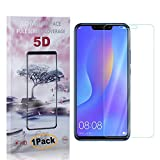 CUSKING Huawei P Smart Plus 2018 Screen Protector Tempered Glass, Ultra Clear Screen Protector for Huawei P Smart Plus 2018, Drop Fall Protection, 9H Hardness, 1 Pack