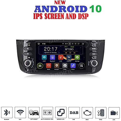 ANDROID 10 GPS USB SD WI-FI Bluetooth autoradio navigatore Fiat Punto Evo Fiat Linea 2010, 2011, 2012, 2013, 2014, 2015