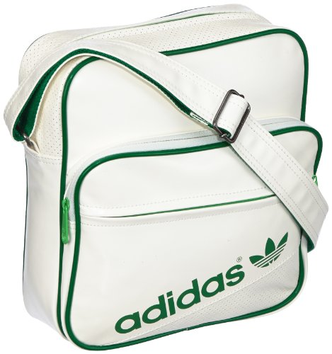 adidas AC Airline Bag - Bolso bandolera, color blanco, talla 30 cm
