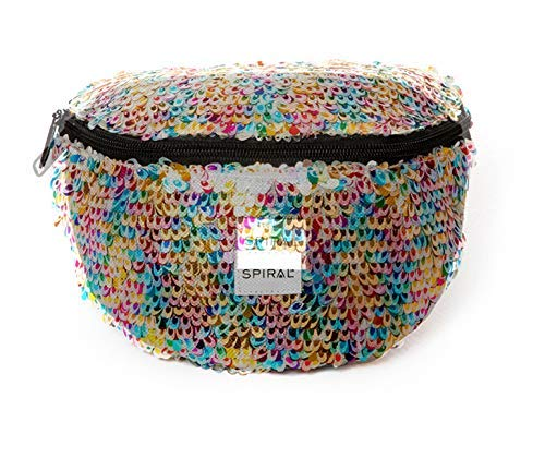 Spiral Feathered Sequins - Rainbow Bum Bag Sac Banane Sport 23 Centimeters 2 Multicolore (Multicolour)