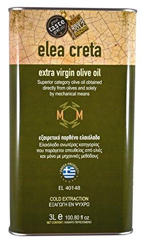Grecque huile d'olive vierge extra qualité premium de la Crète 3 litres canister