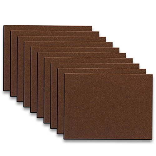 Furniture Pads - 10 Pack ON'H Self-Stick Felt Furniture Pads Hardwood Floors Protectors � 8� x 6� x 1/5� Sheet Cut Furniture Pads into Any Shape � Coffee