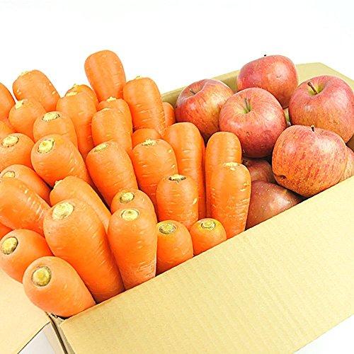 無農薬にんじん野菜セット(無農薬にんじん10kg+りんご2kg)訳あり