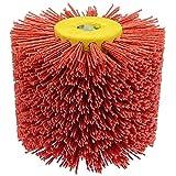 Cepillos De Tambor De Alambre Abrasivo Rojo Cepillo De Pulido De Pulido De Tambor For El Tratamiento De Superficies De Muebles Pulido De Productos De Madera