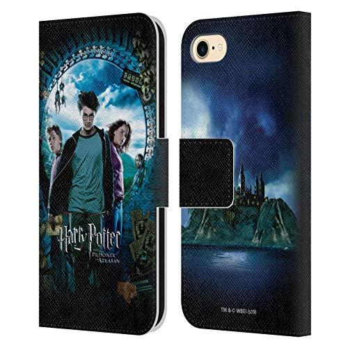 Ron, Harry und Hermione Poster Prisoner of Azkaban IV Leder Brieftaschen Handyhülle Hülle Huelle kompatibel mit Apple iPhone 7 / iPhone 8 / iPhone SE 2020