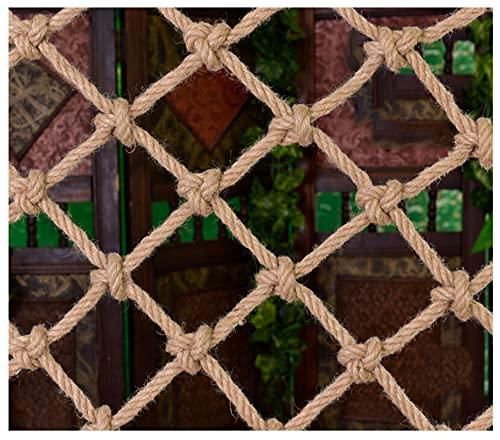 SHXN Red de Protección de Escaleras Red de Seguridad para Niños,Cuerda de Cáñamo Decoración de Red Balcón Ventana Barrera Litera Photo Wall,Red de Cuerda de Decoración de Techo,2×4m
