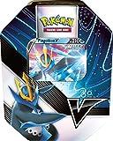 Pokemon Pokébox MAI 2021-Tyranocif-V o Pingoleon V (Modelo Aleatorio) - Juego de Cartas para Jugar y coleccionar, POB40