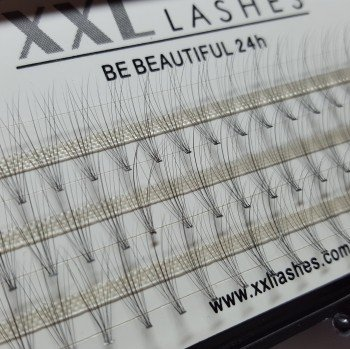 60 Volumen Flare Lashes 10 D, knotenfrei, D-Curl, 0,05 mm\