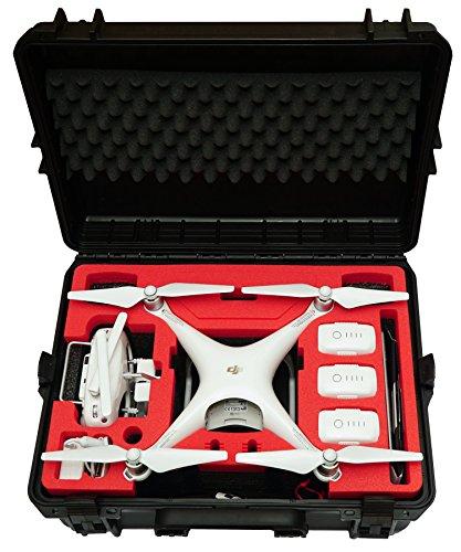 Custodia da trasporto Premium per DJI Phantom 4 Pro Pro +   V1.0 2.0   Adv Adv +   Ossidiana, Spazio per 6 batterie + Un sacco di accessori, Custodia impermeabile per esterni IP67