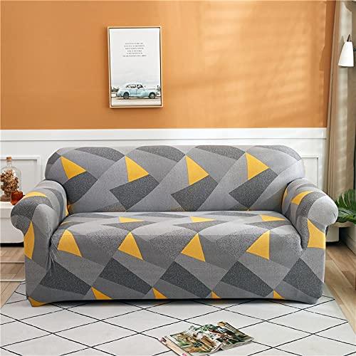 ASCV Funda de sofá elástica con Estampado de Hojas pastorales Funda de Cuatro Estaciones Funda Ajustada Funda de sofá elástica Universal para Sala de Estar A1 1 Plaza
