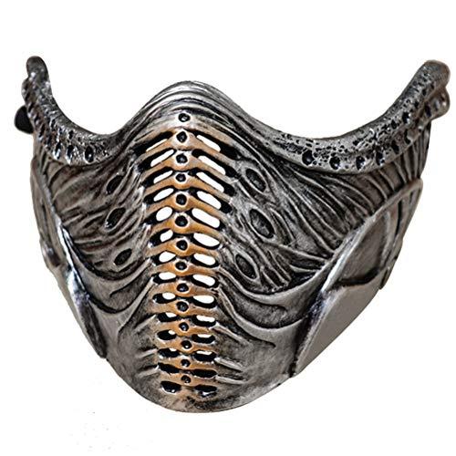 Fangteke Halloween Masque Résine Jeu Masque Mortal Kombat Cosplay Masque Accessoires de Fête Jeu de Rôle Décoration pour Halloween Déguisement Carnaval