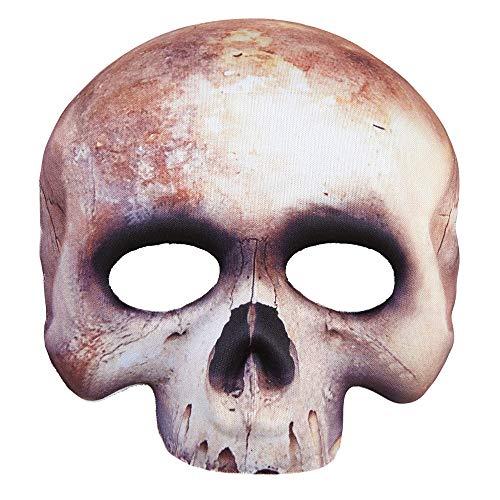 Widmann 05700 Masque Squelette sans Fil Blanc Taille Unique